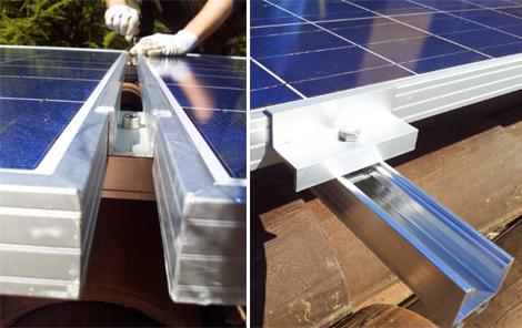 Supporto montaggio pannello solare