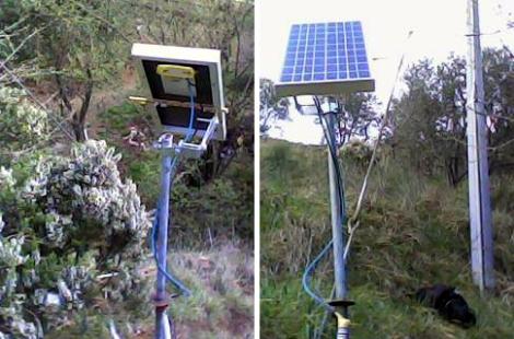 pannello solare su palo