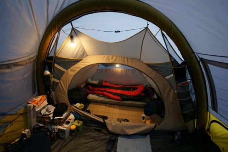 Enuotek lampada lanterna da campeggio led a batteria torcia da