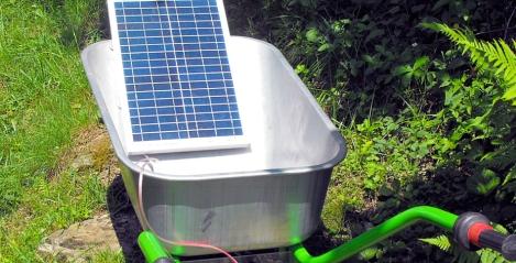 carriola elettrica a energia solare