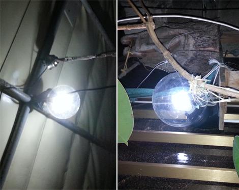 Installazione kit solare, lampadien led