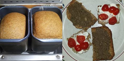 Pane e bruschette cotte con l'energia solare