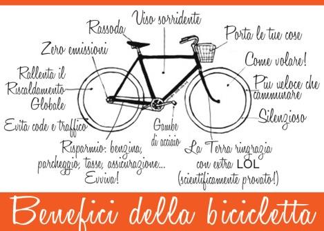 benefici della bicicletta