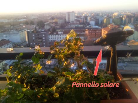 pannello solare per lucine di natale