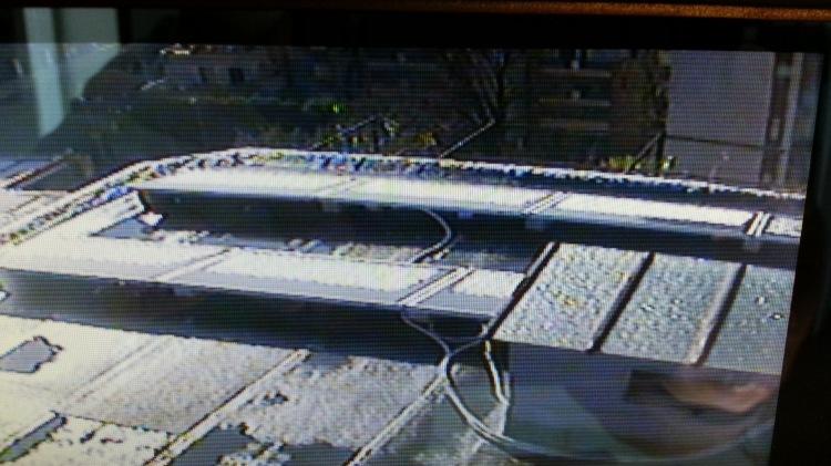 Il nostro impianto con accumulo visto dalla telecamera di sorveglianza