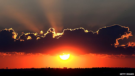 Sole, tramonto, Africa