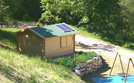 Baita alimentata con pannelli fotovoltaici