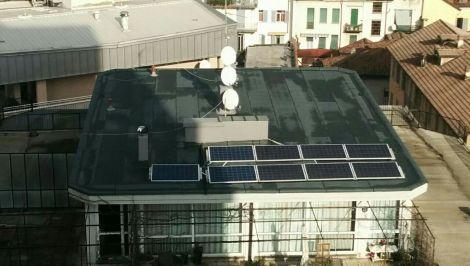 Ombra sull'impianto fotovoltaico ad accumulo