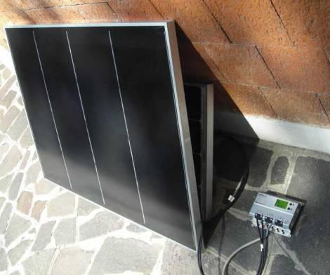 pannello fotovoltaico cis in ombra