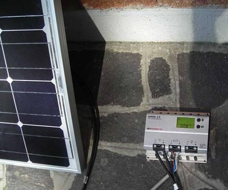 Pannello fotovoltaico in ombra